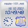 Capture d'écran Horloge route-101.net