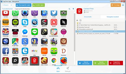 Capture d'écran CopyTrans Apps