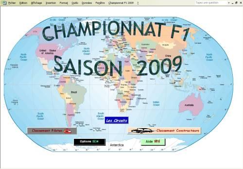 Capture d'écran Championnat F1 2009