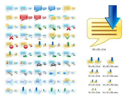 Capture d'écran Messenger Icons for Vista