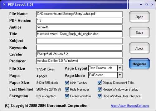 Capture d'écran PDF Layout