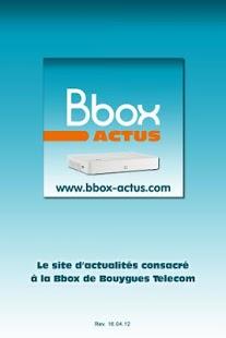 Capture d'écran Bbox Actus