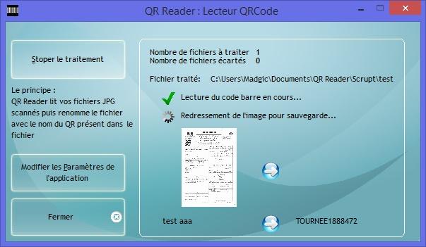 Capture d'écran QR Reader