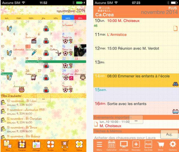 Capture d'écran Jorte Calendrier iOS