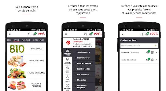 Capture d'écran AuchanDrive Android