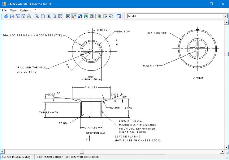 Capture d'écran 2D / 3D CADViewX