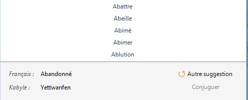 Capture d'écran Amazigh Translat