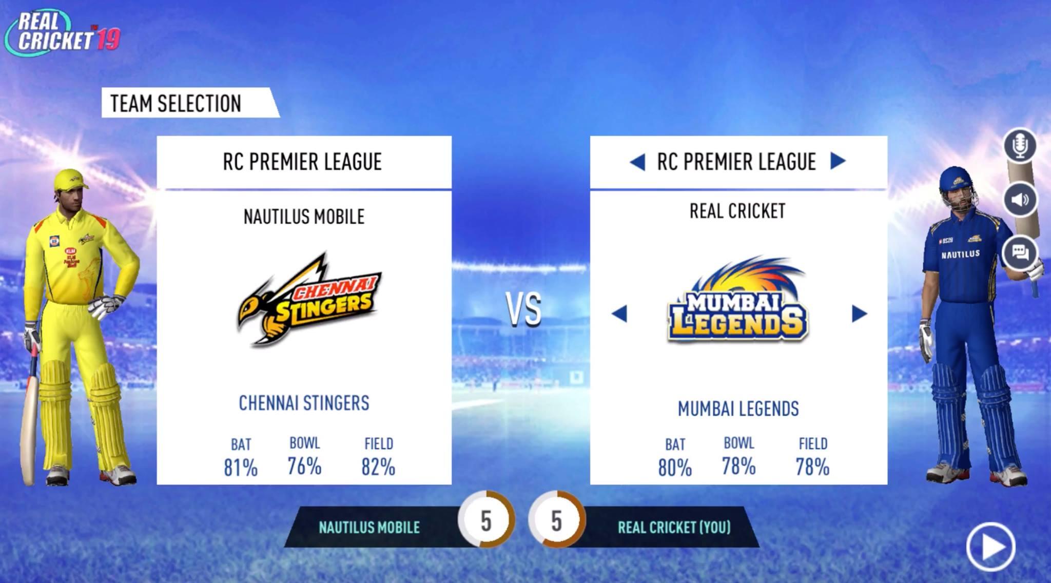 Capture d'écran Real Cricket 19 Android
