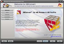 Capture d'écran DBConvert for Access & MS FoxPro