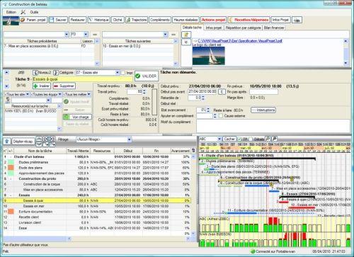 Capture d'écran Application VisualProjet