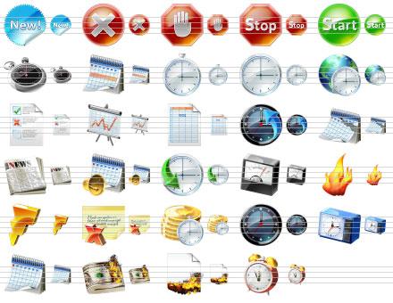Capture d'écran Large Calendar Icons