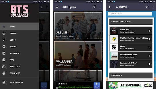 Capture d'écran BTS Lyrics Android