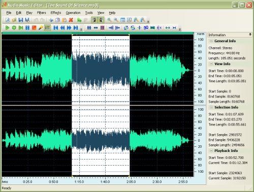 Capture d'écran Audio Music Editor