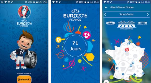 Capture d'écran UEFA EURO 2016 Fan Guide Android