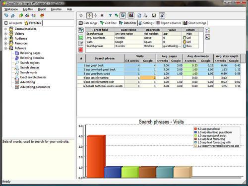 Capture d'écran Log2Stats