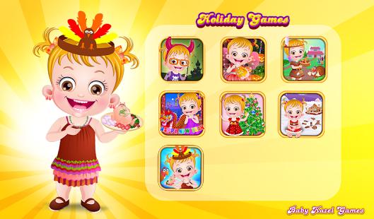 Capture d'écran Baby Hazel Holiday Games