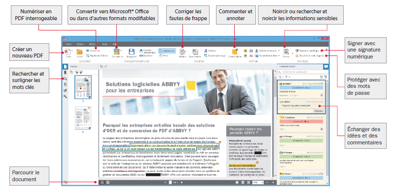 Capture d'écran ABBYY PDF Transformer+