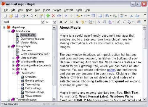 Capture d'écran Maple