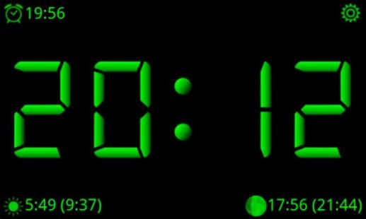 Capture d'écran AdyClock – heures de nuit,