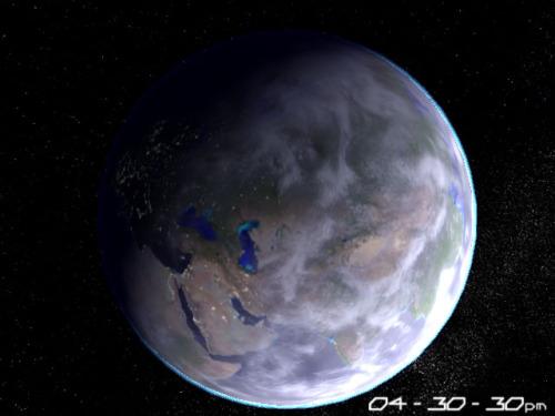 Capture d'écran Planet Earth 3D Screensaver
