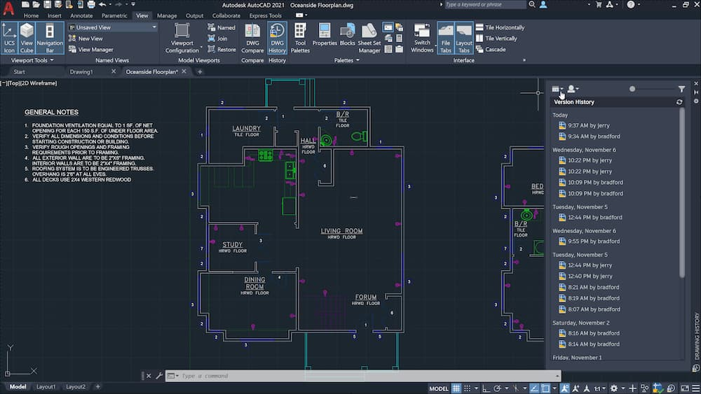 Capture d'écran AutoCAD Architecture 2021