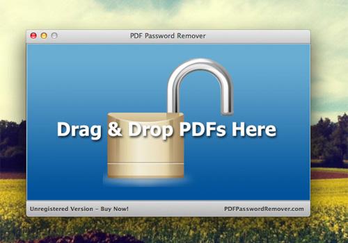 Capture d'écran PDF Password Remover Mac