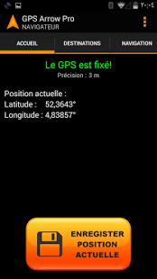 Capture d'écran GPS Arrow Navigator PRO