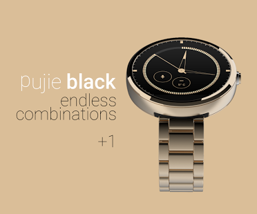 Capture d'écran Pujie Black – Wear Watch Face