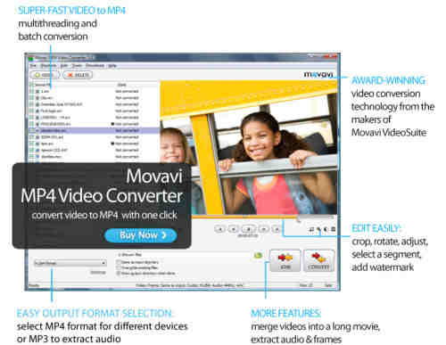 Capture d'écran Movavi MP4 Video Converter