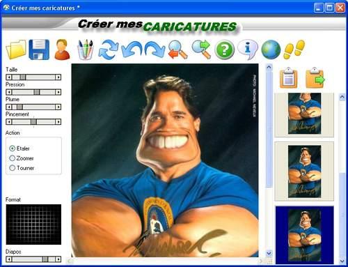 Capture d'écran Creer mes caricatures