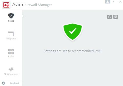 Capture d'écran Avira Internet Security Suite