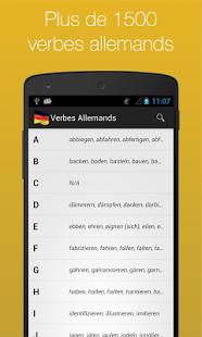 Capture d'écran Verbes Allemands