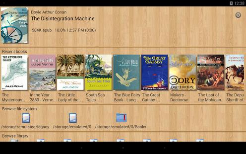 Capture d'écran EBook Reader