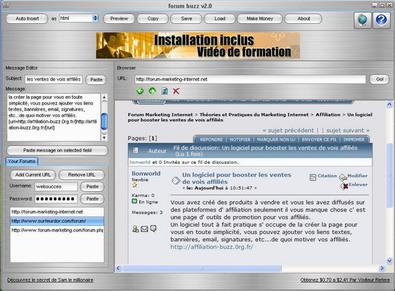 Capture d'écran Automatic forum submitter Pro