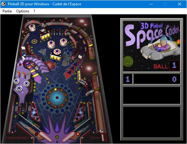 Capture d'écran Microsoft 3D Pinball Space Cadet