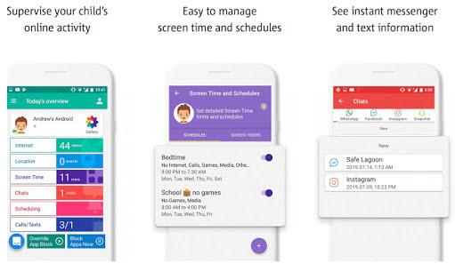 Capture d'écran Safe Lagoon Contrôle Parental Android