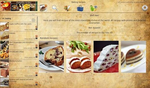 Capture d'écran Baking recipes