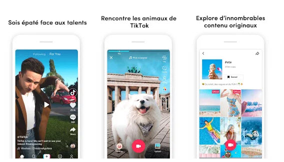 Capture d'écran TikTok Android