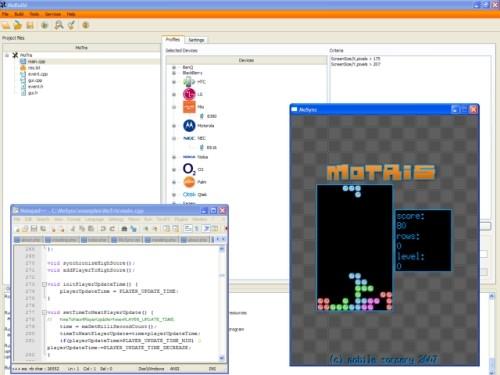 Capture d'écran MoSync