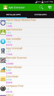 Capture d'écran Apk Extractor