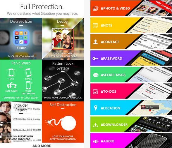 Capture d'écran Secret Folder Icon iOS