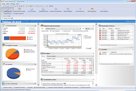 Capture d'écran MS Comptes Bancaires