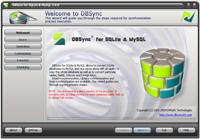 Capture d'écran DBSync for SQLite & MySQL