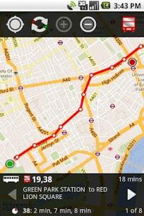 Capture d'écran London Bus Traveller