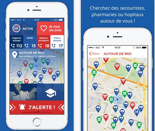 Capture d'écran SSF-Sauveteurs sans Frontières iOS