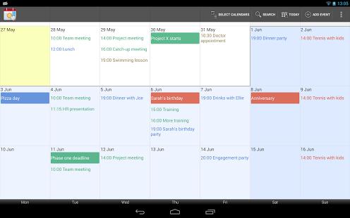 Capture d'écran Touch Calendar