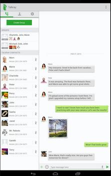 Capture d'écran Talkray Android