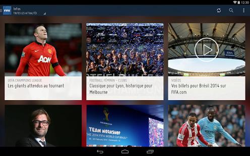 Capture d'écran FIFA Android