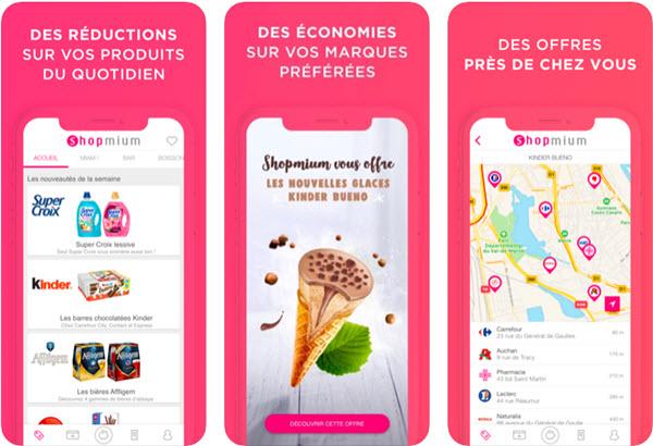 Capture d'écran Shopmium iOS