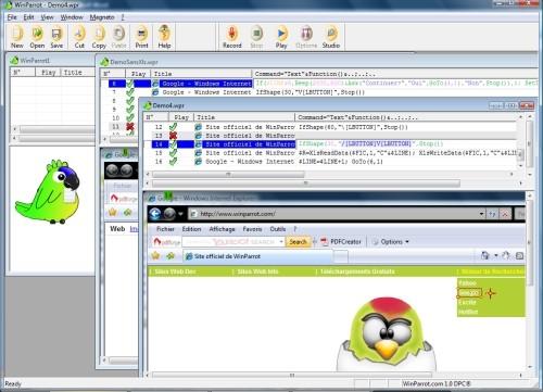 Capture d'écran WinParrot